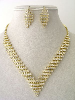 Designer Mesh style Necklace/Earring Set Reg $59.99