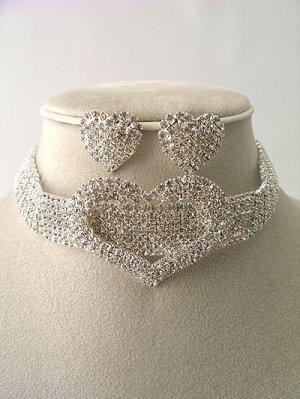 """""""Love"""" Choker Necklace/Earring Set $79.99"""