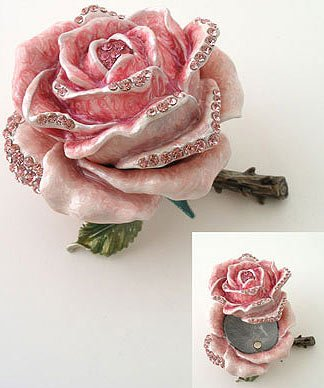 Rose with Rhinestone Jewelry Box Reg $69.99