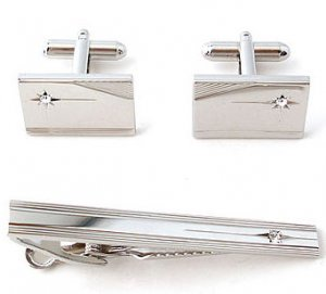 Set of 2 Cufflinks and 1 Tie Pin. Reg $39.99