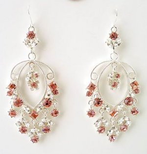 Dangle Designer Victorian Crystal Earrings Reg $45