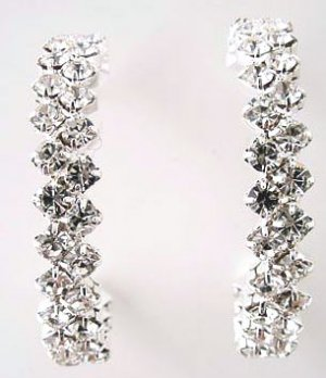 Magnificent Jagged Arranged Crystal Hoops Reg $33
