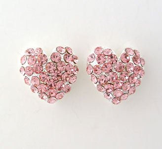 Heart Formal Wear Rhinestone Earrings $24.99