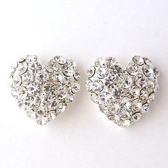 Heart formal wear Rhinestone Earrings Reg $24.99