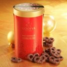 Holiday Milk Chocolate Covered Pretzel Canister