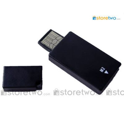 Mini USB 2.0 Memory Stick Micro M2 Card Reader - Black