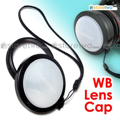 White Balance Snap On Front Lens Cap 52mm