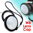 White Balance Snap On Front Lens Cap 58mm