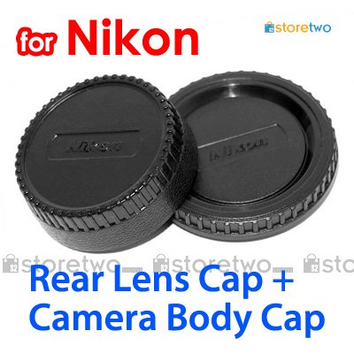 Rear Lens + Camera Body Caps for Nikon Camera