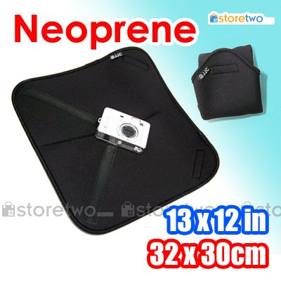 JJC Soft Neoprene Wrap For Camera and Accessories (13 x 12 inches, 32 x 30 cm)
