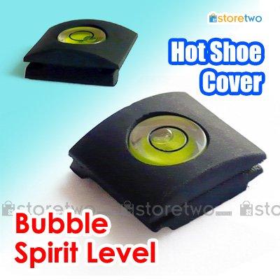 Hot Shoe Cap with Bubble Spirit Level
