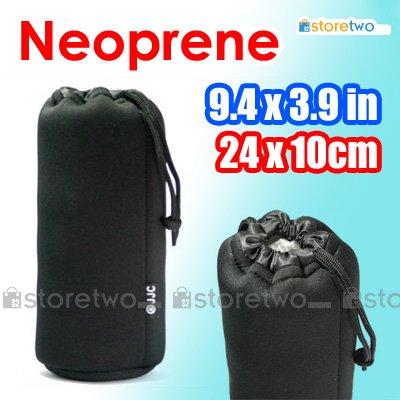 JJC Soft Neoprene Lens Pouch XL (9.4 x 3.9 inches, 24 x 10 cm)