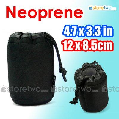 JJC Soft Neoprene Lens Pouch S (4.7 x 3.3 inches, 12 x 8.5 cm)