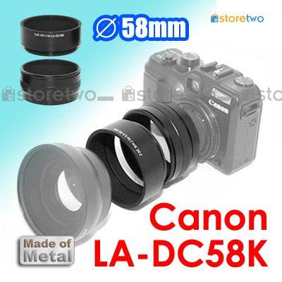 LA-DC58K - JJC Conversion Lens Adapter for Canon Digital Camera G11, G10