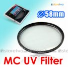 MASSA Multi Coated Ultraviolet MC UV Filter 58mm
