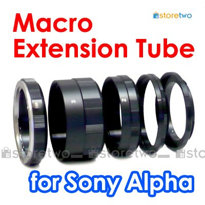 Macro Close Up Extension Tube Set for Sony Alpha Konica Minolta MA Camera