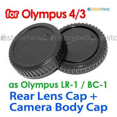 Rear Lens + Camera Body Caps for Olympus Four Thirds 4/3 Camera