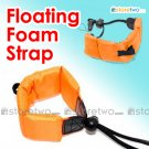 Floating Foam Strap for Waterproof Cameras Samsung Fujifilm Pentax Sony (Orange)