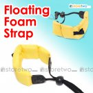 Floating Foam Strap for Waterproof Cameras Samsung Fujifilm Pentax Sony (Yellow)