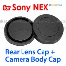 Rear Lens + Camera Body Caps for Sony NEX E-Mount Camera NEX-3 NEX-5