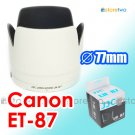 ET-87 White - JJC Lens Hood for Canon EF 70-200mm f/2.8L IS USM II 77mm