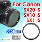 JJC Conversion Lens Adapter 58mm for Canon Digital Camera PowerShot SX20 IS, SX10 IS, SX1 IS