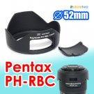 PH-RBC 52mm - JJC Lens Hood for Pentax smc DA 18-55mm f/3.5-5.6 ED AL WR Weather Resistant