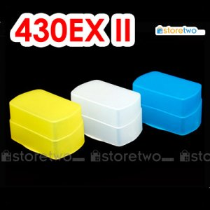 Pack of 3 Flash Bounce Diffuser Cap for Canon Speedlite 430EX II, 430EX
