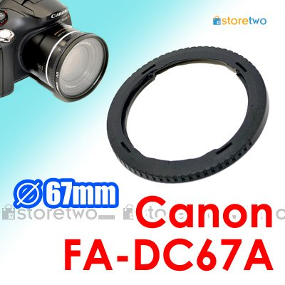FA-DC67A - JJC Conversion Lens Adapter for Canon Camera PowerShot SX40 HS, SX30 IS, SX20, SX10, SX1