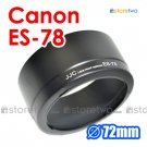 ES-78 - JJC Lens Hood for Canon EF 50mm f/1.2L USM 72mm