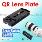 Kiwifotos 86mm Quick Release Lens Plate Arca Swiss NIB