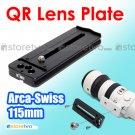 Kiwifotos 115mm Quick Release Lens Plate Arca Swiss NIB