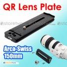 Kiwifotos 150mm Quick Release Lens Plate Arca Swiss NIB