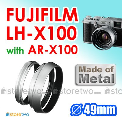 LH-X100 AR-X100, JJC Metal Vented and Tilted 49mm Lens Hood for FUJIFILM FinePix X100
