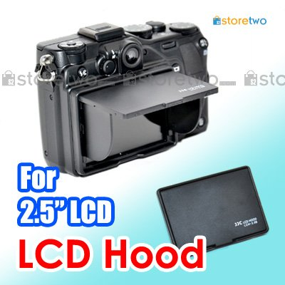 "JJC LCD Hood for 2.5"" LCD Screen Monitor 3-Sided Canopy"