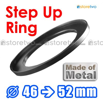 Step Up 46mm to 52mm Filter Ring Adapter Mount Metal
