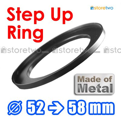 Step Up 52mm to 58mm Filter Ring Adapter Mount Metal