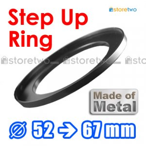 Step Up 52mm to 67mm Filter Ring Adapter Mount Metal