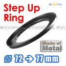 Step Up 72mm to 77mm Filter Ring Adapter Mount Metal