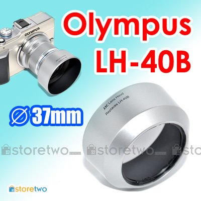 LH-40B - JJC Silver Lens Hood for Olympus M.ZUIKO DIGITAL ED 45mm f/1.8 37mm