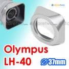 LH-40 - JJC Silver Lens Hood for Olympus M.ZUIKO DIGITAL ED 14-42mm f/3.5-5.6 II R