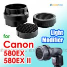 3-in-1 Stacking Honeycomb Grid Light Modifier System for Canon Speedlite 580EX II