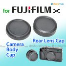 Rear Lens + Camera Body Caps for FUJIFILM X Camera