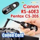 RS-60E3 - JJC Shutter Remote Control Coiled Cord 90cm for Canon EOS, Pentax, Samsung, T5i SL1