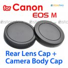 Rear Lens + Camera Body Caps for Canon EOS M Camera