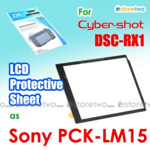 PCK-LM15 - JJC LCD Screen Protective Sheet Cover for Sony Cyber-shot DSC-RX1R RX1