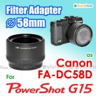 FA-DC58D - JJC 58mm Filter Adapter for Canon Digital Camera PowerShot G15