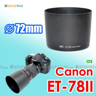 ET-78II - JJC Lens Hood for Canon EF 135mm f/2L USM 180mm f/3.5L Macro USM 72mm
