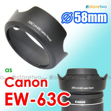 EW-63C - JJC Lens Hood for Canon EF-S 18-55mm f/3.5-5.6 IS STM 58mm Filter Thread