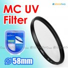 Green.L Multi Coated Ultraviolet MC UV Filter 58mm